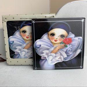 Vintage 70's Pierrot Coaster Boxed Set